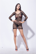 Top sale ladies sexy dress mature patterned fishnet lingerie
