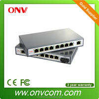 8 port 100M desktop/wall mounted poe switch for cctv camera buy direct from china manufacturer