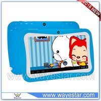 WS761silicone cover kids tablet pc 7 inch Android 5.1 4 cores 8gb multi colors wholesale