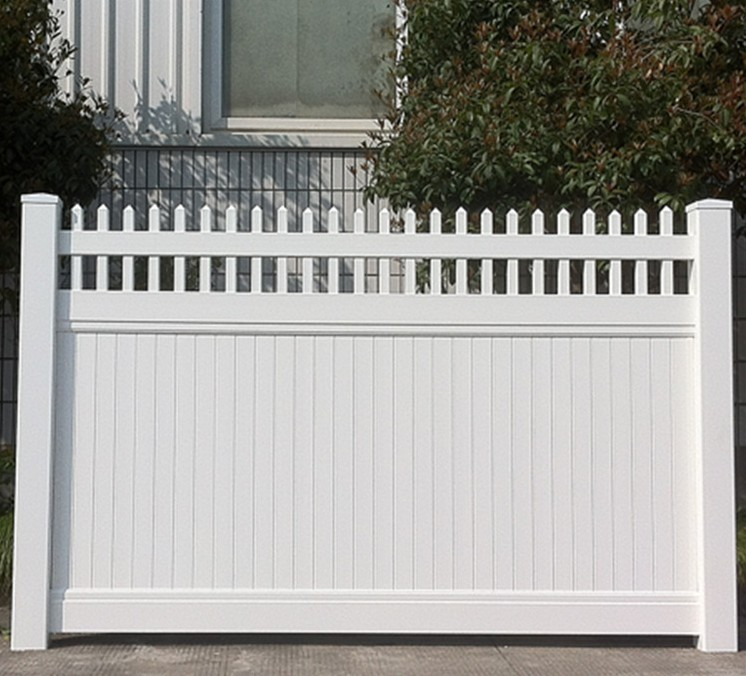 New!Hot sale! Nature Pressure Treated Wood Type and PVC Plastic Type PVC profile fence garden fence and railing