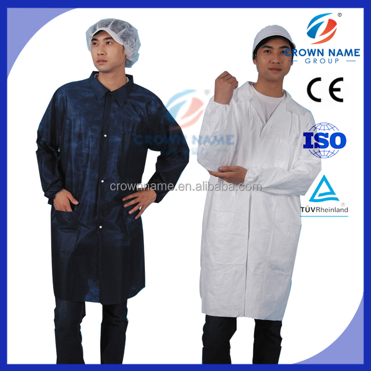 wholesale long disposable laboratory gown lab coat scrubs