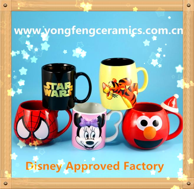 YF18787 high quality ceramic mug made in Disney approved factory