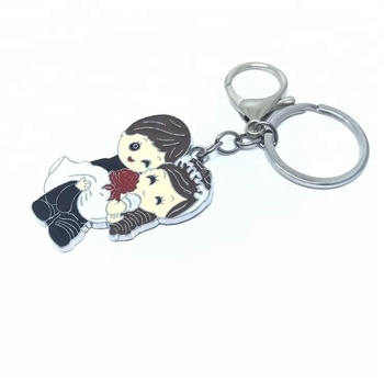 China factory custom sexy red lips shape wedding decoration metal keychain