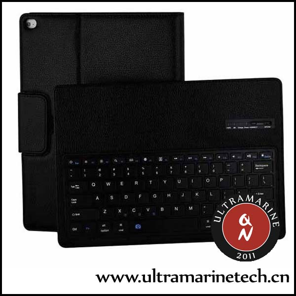 For iPad Mini 4 Keyboard Case Lichi Leather Detachable ABS Keyboard Wireless Bluetooth