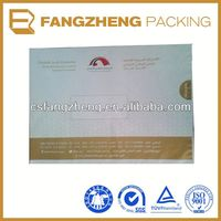 High quality full color printing destructive glue kraft paper bags food grade