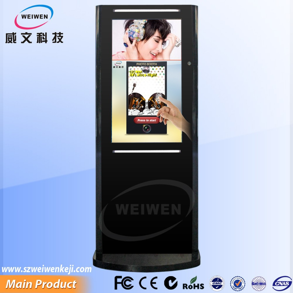 43 inch led with samsung photo booth kiosk with software ,multi-function photo kiosk design for photo studio use
