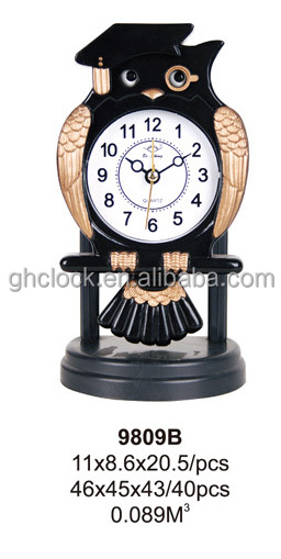 Doctor owl black sway table clock (9809B)