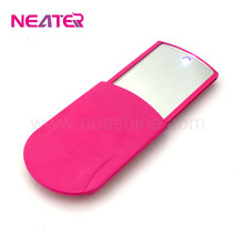 LED foldable pocket handbag compact makeup pocket mirror with lights cosmetic handheld