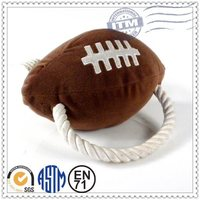 Factory Directly Custom Plush Pet Products sponge football toy