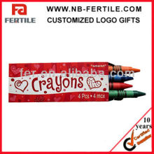 P604150 4 PACK WAX COLOR CRAYON SET FOR CHILDREN