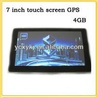 7 inch TFT touch screen Car Navigation GPS + free maps +4GB memory+ 128M RAM WIN CE6 .0 7''YC-G72