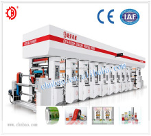 Automatic register multi color rotogravure printing machine for plastic film