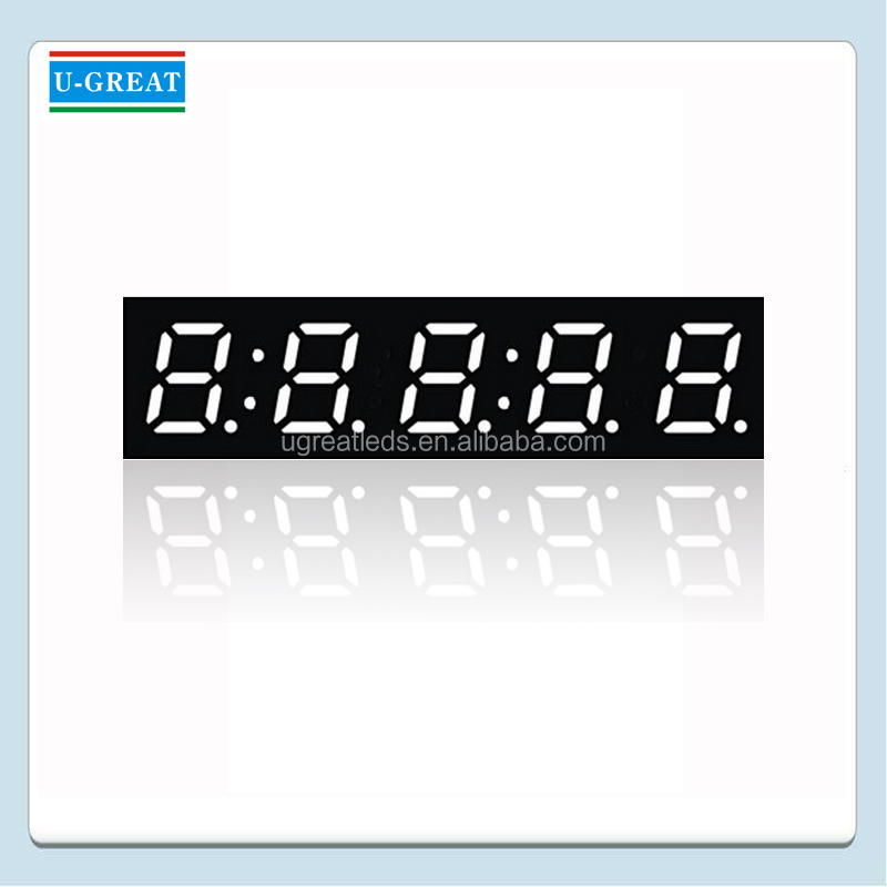 1.2 Inch 5 Digits 7 Segment LED Clock Display