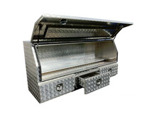 Heavy duty aluminium ute drawer tool box with checker plate