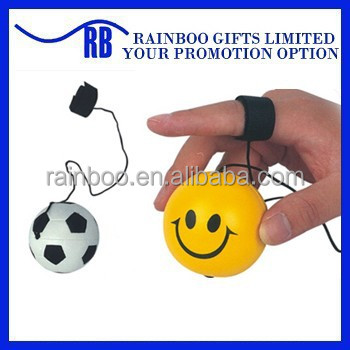 Hot selling Eco-friendly logo printed cheap smile face shape retractable pu yoyo ball for promotion