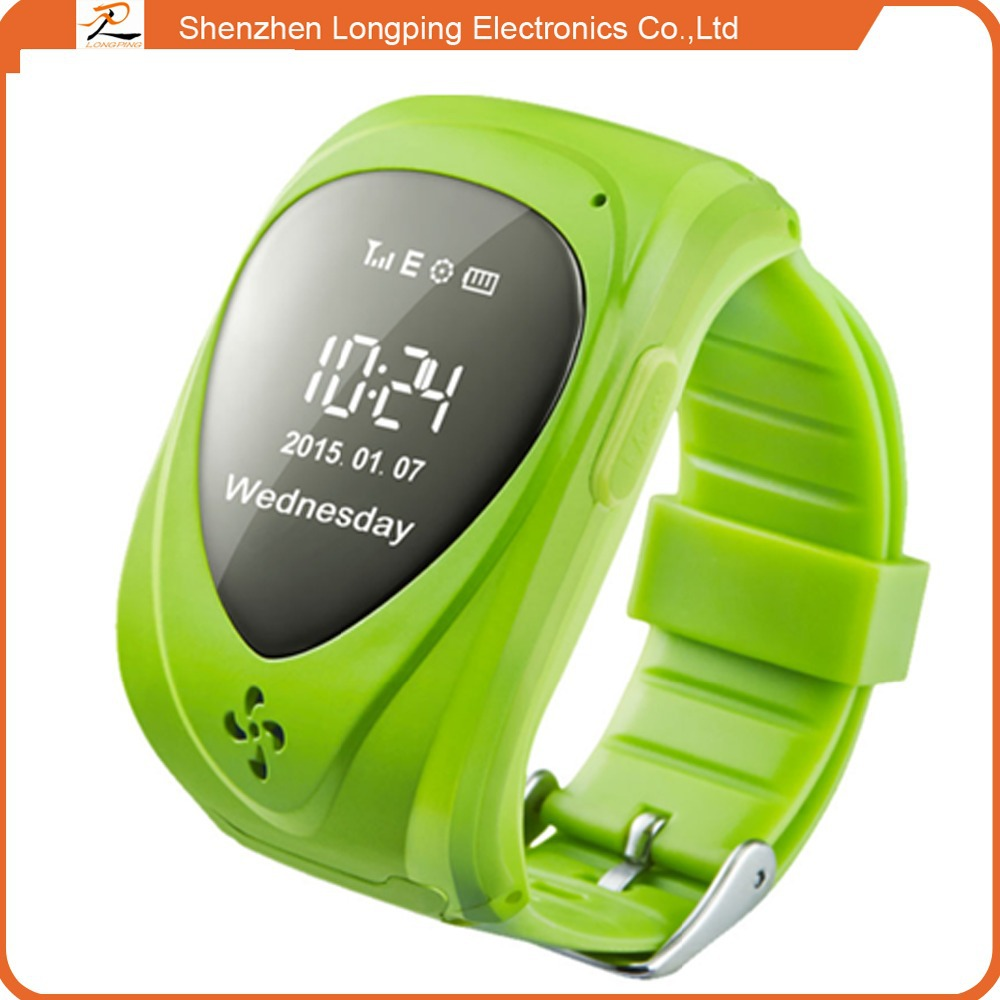 2015 SOS Function Remote GPS Tracking kids cell phone smart watch