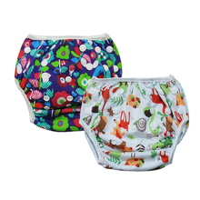 Waterproof Baby Swim Diapers Snaps Swim Nappy Swimming Pants All in One Size