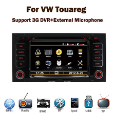 Wholesale ! vw touareg car dvd player with GPS 3G Radio Bluetooth DVD navigation system