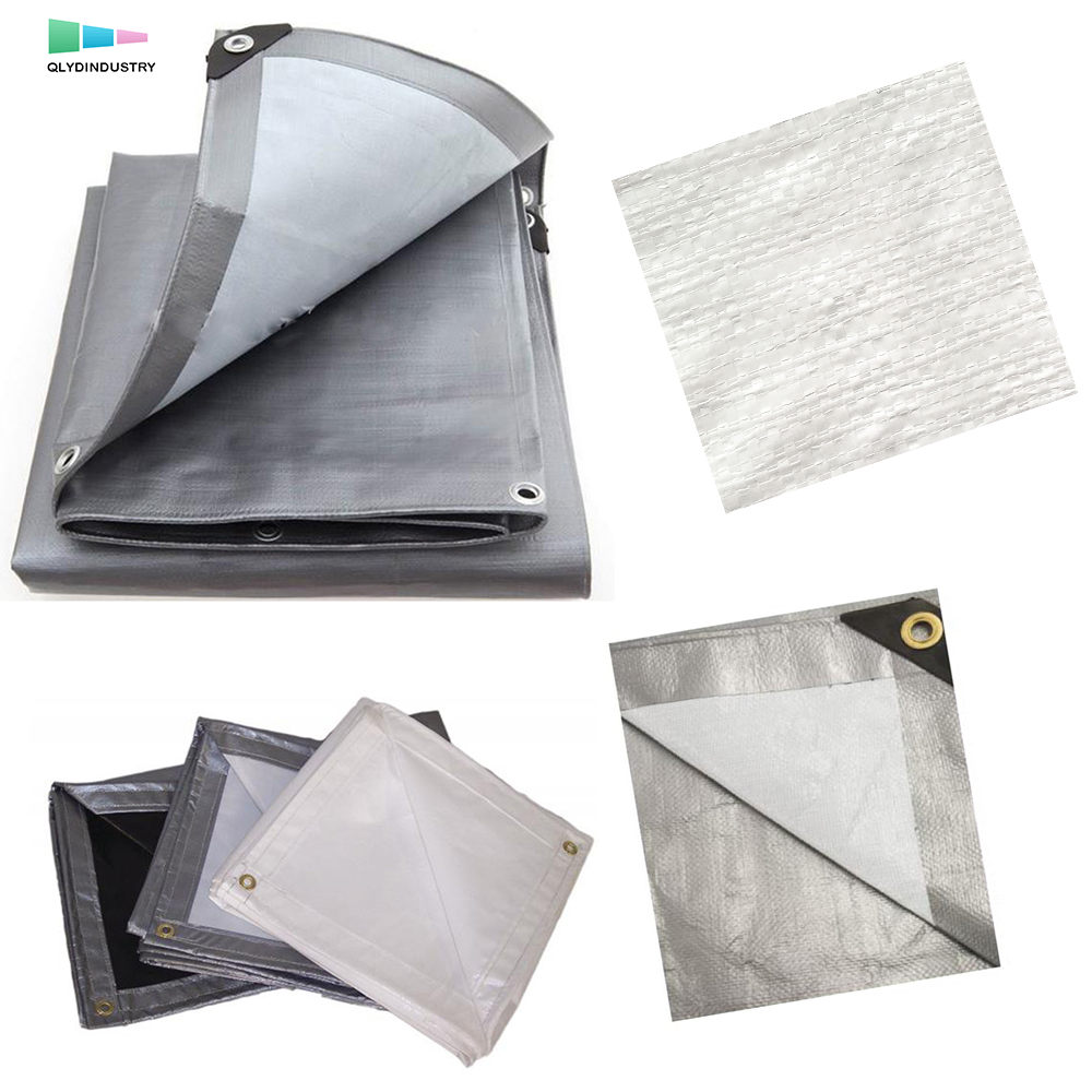 Silver 2 Year UV Coating Waterproof PE Tarpaulin