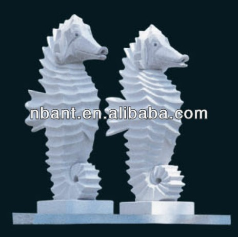 outdoor granite hand carving sea horse stone animal statue