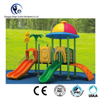 2016 New Arrival children outdoor playground with slide and padding for kindergarten