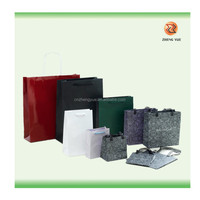 paper laminated promotional shopping bag/2014 new design fashion paper shopping bags:high quality carry bag