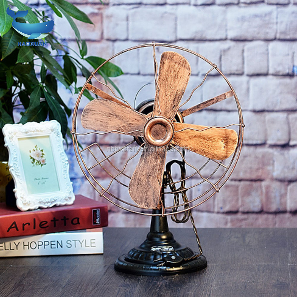 YWJT0033 HAOXUAN New Style Customize electric fan model designed brand logo in metal plated pottery white pin