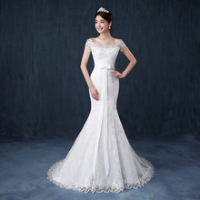 ZH0183A 2016 elegant unique design beaded long tail wedding dress