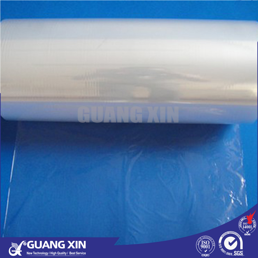 Hot sale high quality blue 5 layers heat shrink plastic LDPE MDPE cling film bags rolls