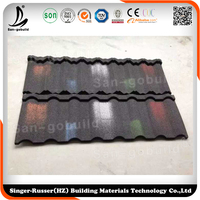 Whole sale roofing Material Metal Roofing Tile /sheet with Colorful Stone Coated