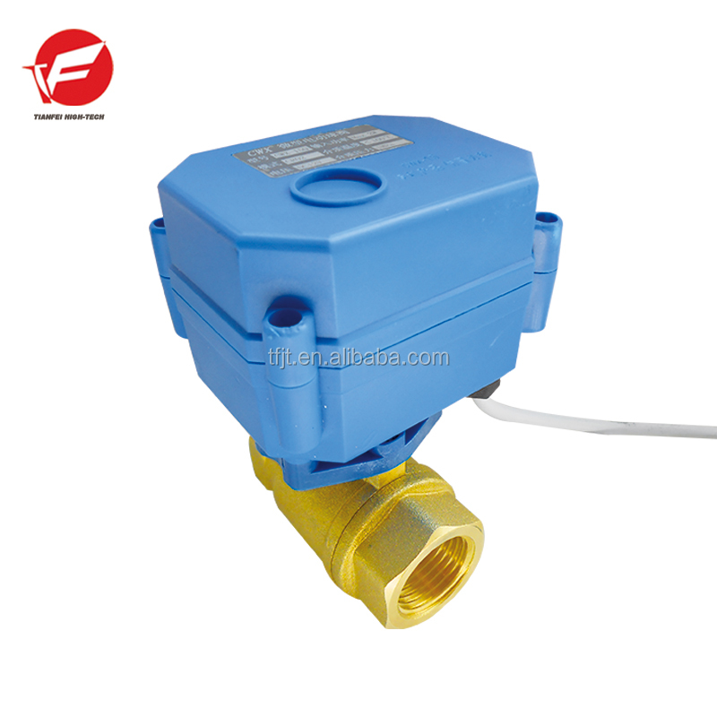 <strong>industrial</strong> mini-auto water equipment 2-way motorized actuator valve with position indicator,signal feedback