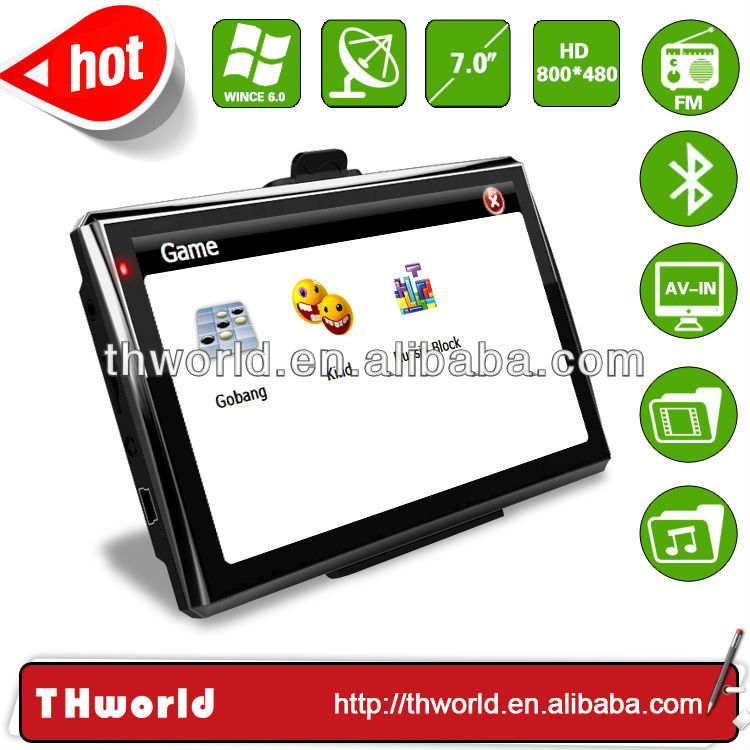 hot sale big screen 7 inch android gps model no. 719