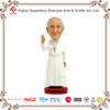 Polyresin famous person pope francis bobble head