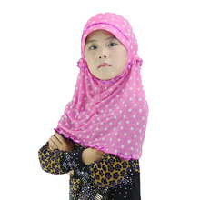2016 Summer wholesale colorful unique design grenadine scarf cheap arabian muslim kids hijab children scarf