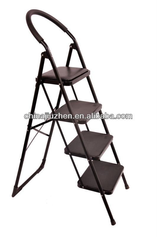steel ladder, portable steel ladder with soft handrail and spenge, pu steps steel material