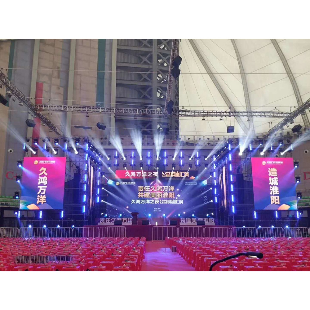 High Quality 4m*3m large Video Wall P3.91 Outdoor LED Screen Display Rental Price For Concerts
