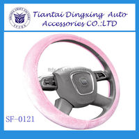Girl Steering Wheel Cover With Pink Color For Winter