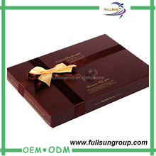 High quality black paper box for chocolate with blister