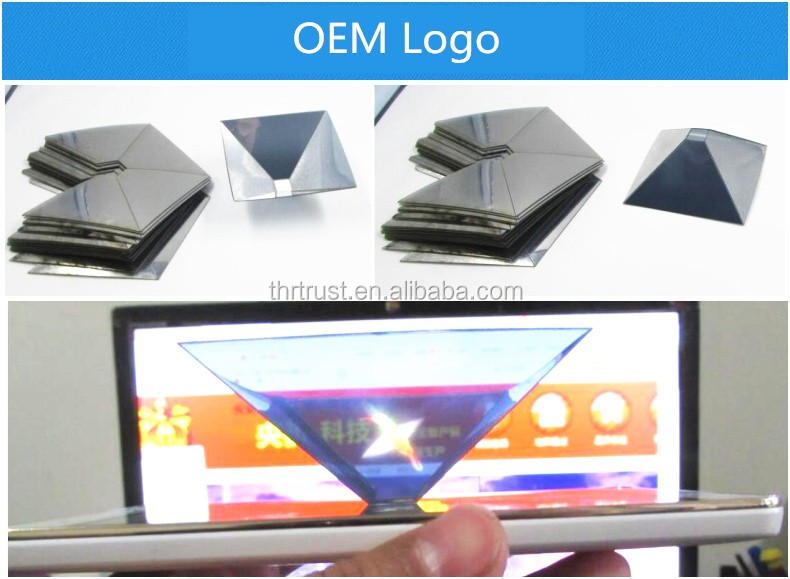 Newest Mini 3D Holographic Projection for 3.5~6.0 inch smart mobile phones OEM Laser logo 3D Hologram Display