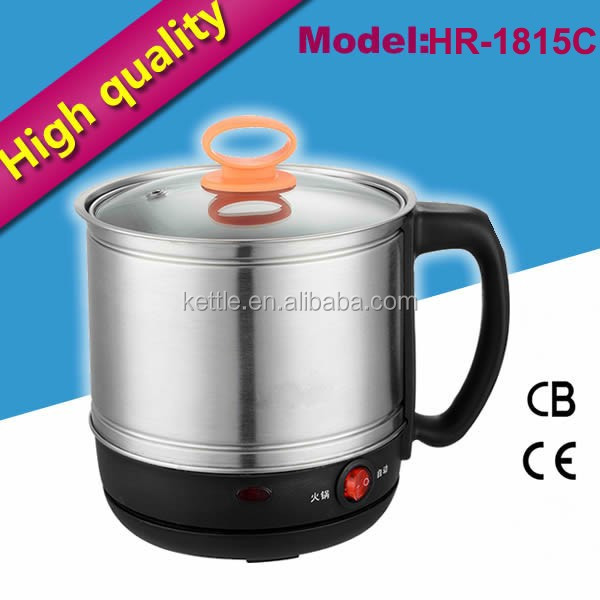 1.8L Multifunction stainless steel electric caldron for kitchen appliance