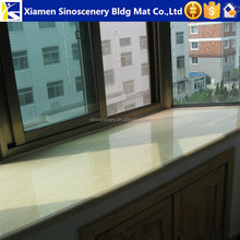 Sunny beige marble window sill with custom designs