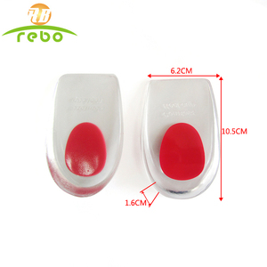 Shock absorption best quality silicone gel heel insoles for shoes height increasing soft gel insole