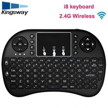 DIHAO i8+ 2.4G Wireless Mini Keyboard for Android Devices with Multi-touch up to 15 Meters