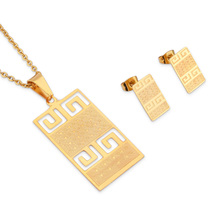 316L Stain Steel 24K Plating Gold Ethnic Jewelry Sets Women