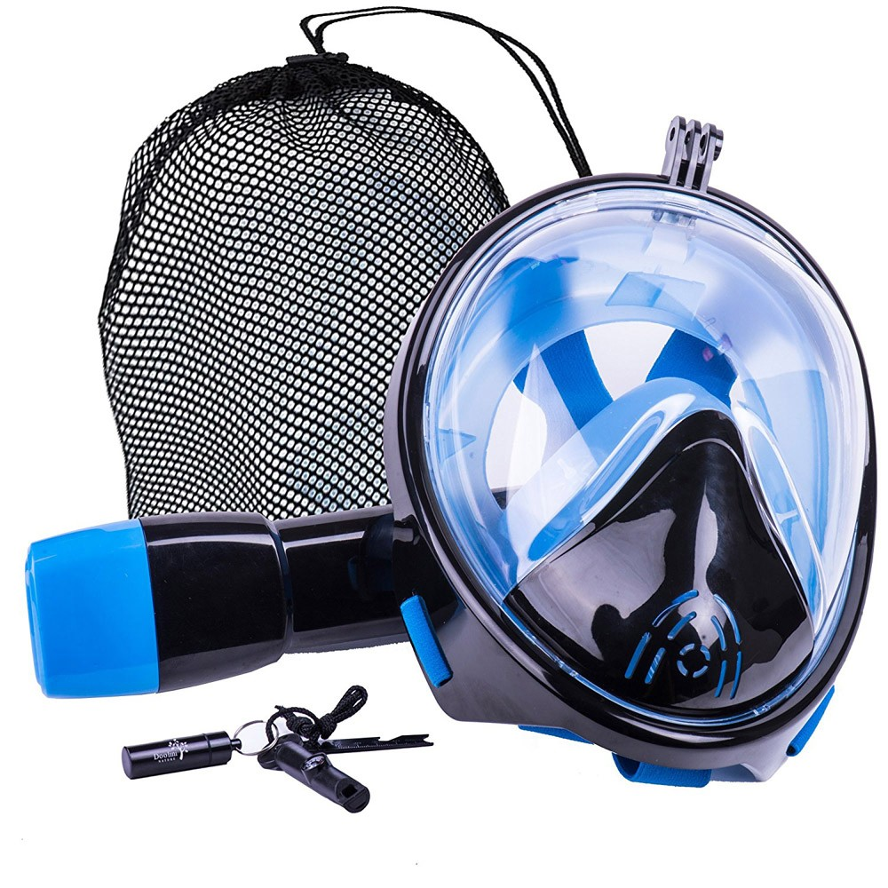 Snorkel mask 180 degree sport training face breathing mask