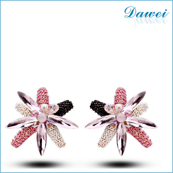 2013 The New Fashion Crystal Top Designs Dubai Gold Diamond Earrings