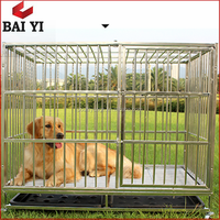 Wholesale Heavy Duty Square Tube Dog Cages With Wheels