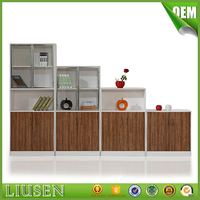 Practical modern office bookcase wood cabinets storage for Manager Office
