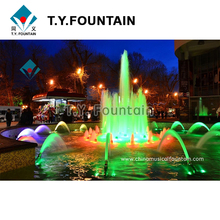 Musical Outdoor Large Outdoor Dancing Fountain Project With RGB Led