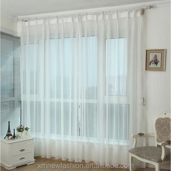 Solid White Sheer Window Curtains/drape/treatment